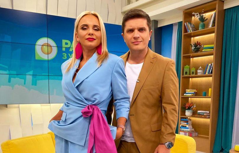 Лилия Ребрик и Анатолий Анатолич - ведущие шоу «Ранок з Україною»