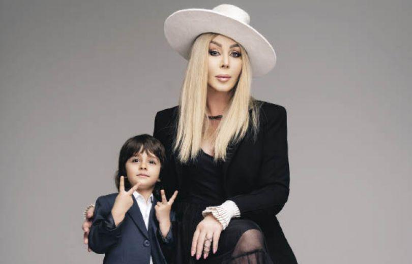 Ирина Билык и ее сын Табриз в фотосессии Вива