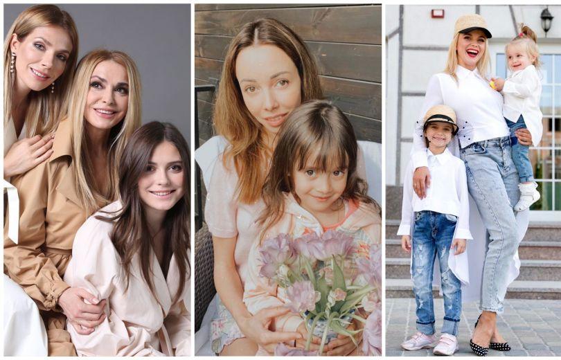 Ольга Сумская, Екатерина Кухар и Лилия Ребрик с дочками