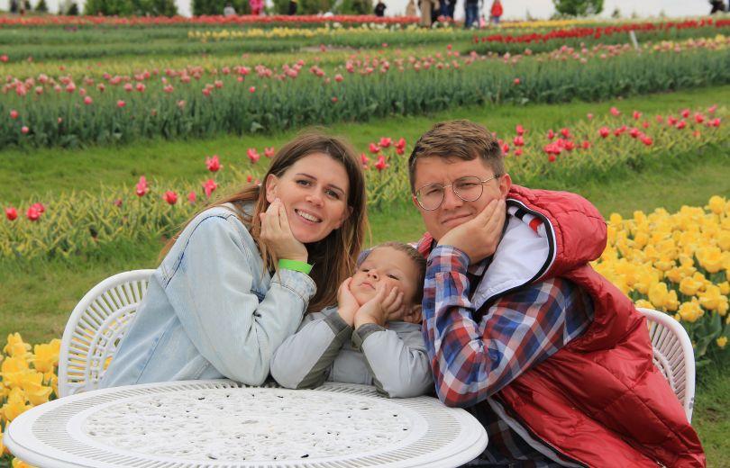 Ирина Хоменко с мужем и сыном