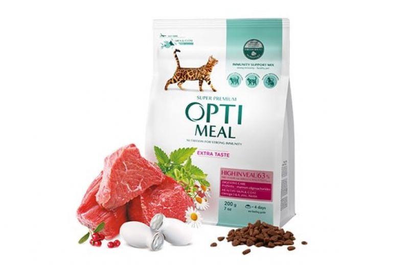 корм для взрослых котов Оптимил