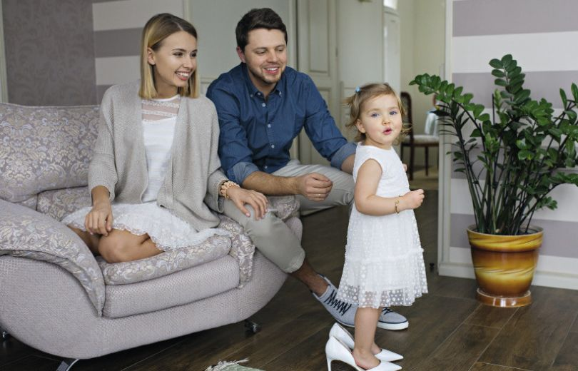 Маша Виноградова с семьей