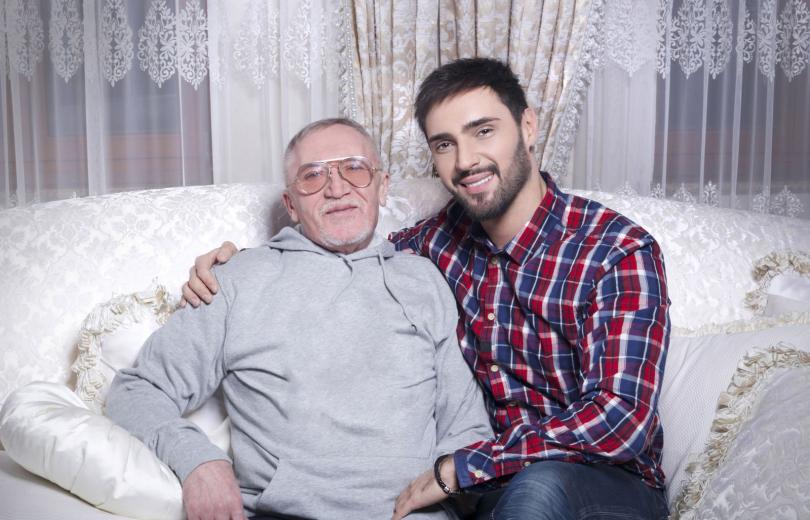 Виталий Козловский с отцом