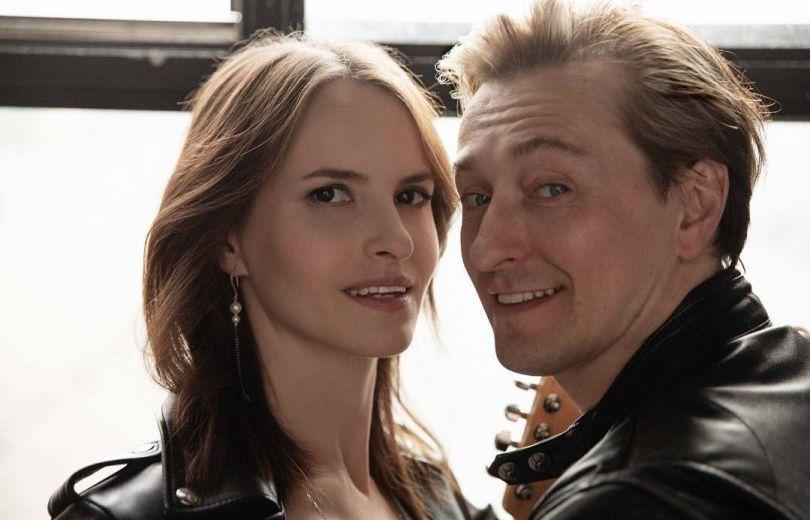 Сергей Безруков и его жена