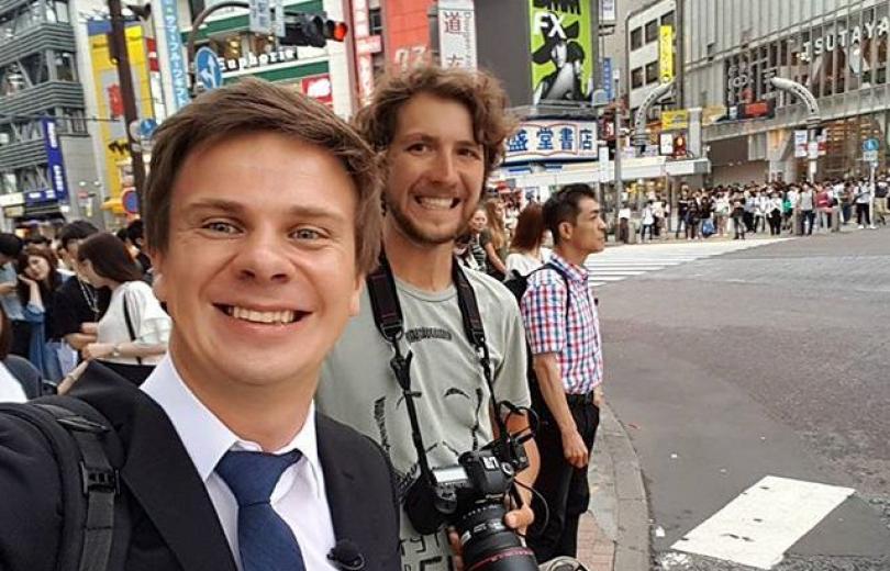 Дмитрий Комаров в Японии