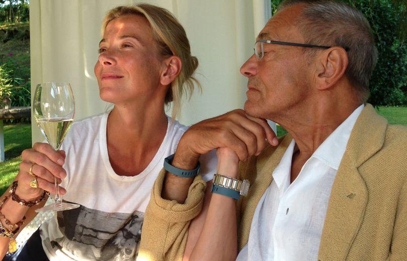 Юлия Высоцкая с мужем