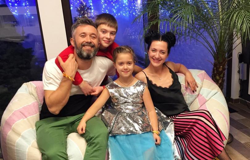 Сергей Бабкин с семьей