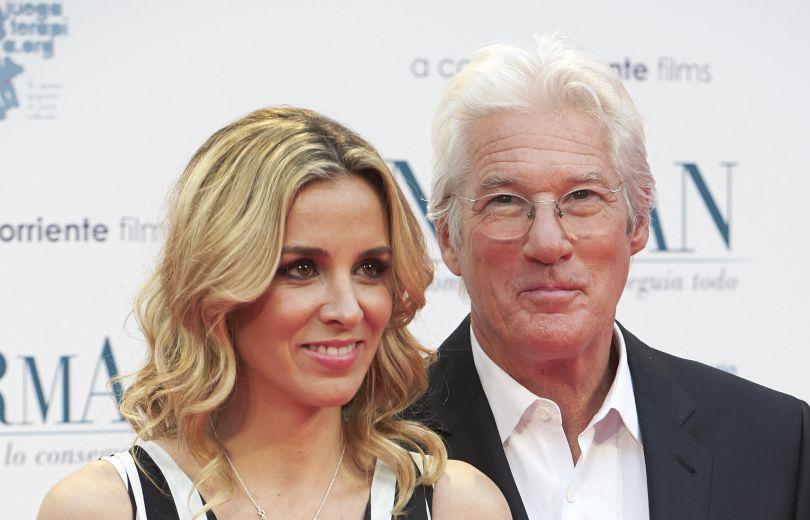 Ричард Гир с женой