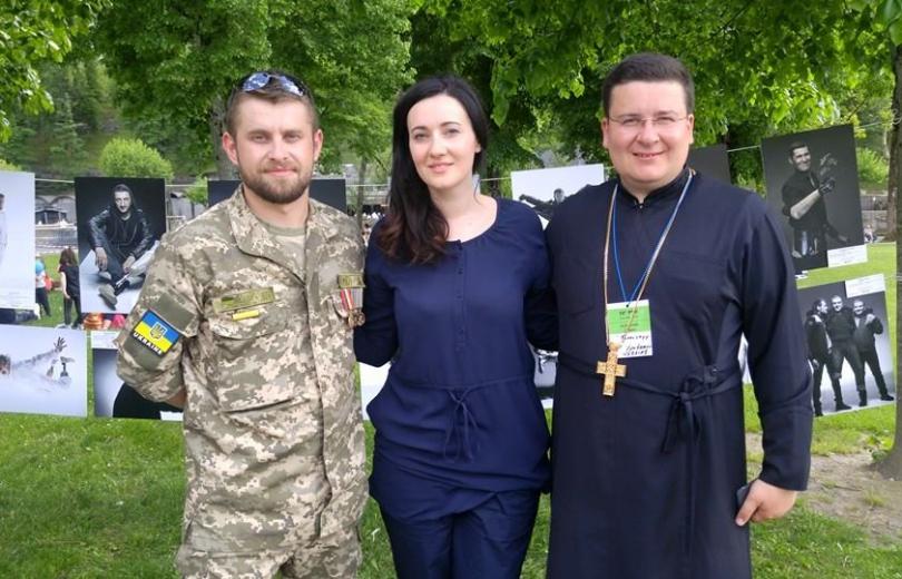 Соломия Витвицкая и герой АТО Назар Барилко побывали во Франции
