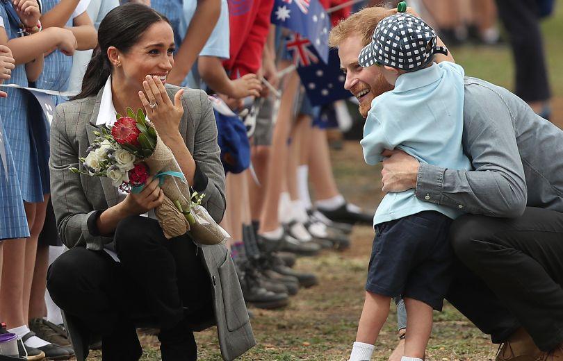 Меган Маркл и принц Гарри с детьми