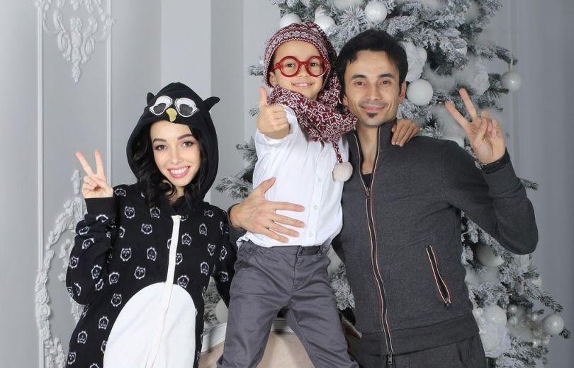 Екатерина Кухар с мужем и сыном