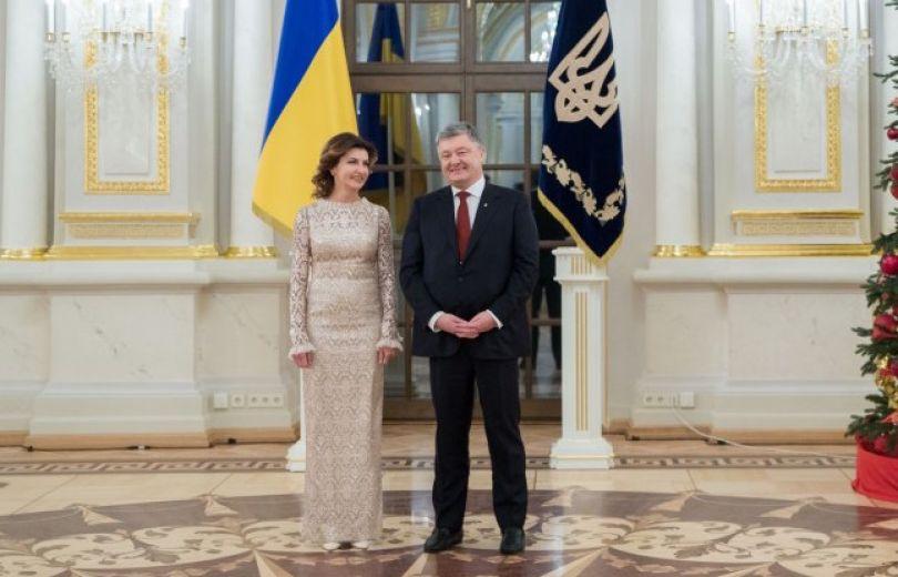 Марина Порошенко появилась на публике в роскошном платье и с элегантной укладкой