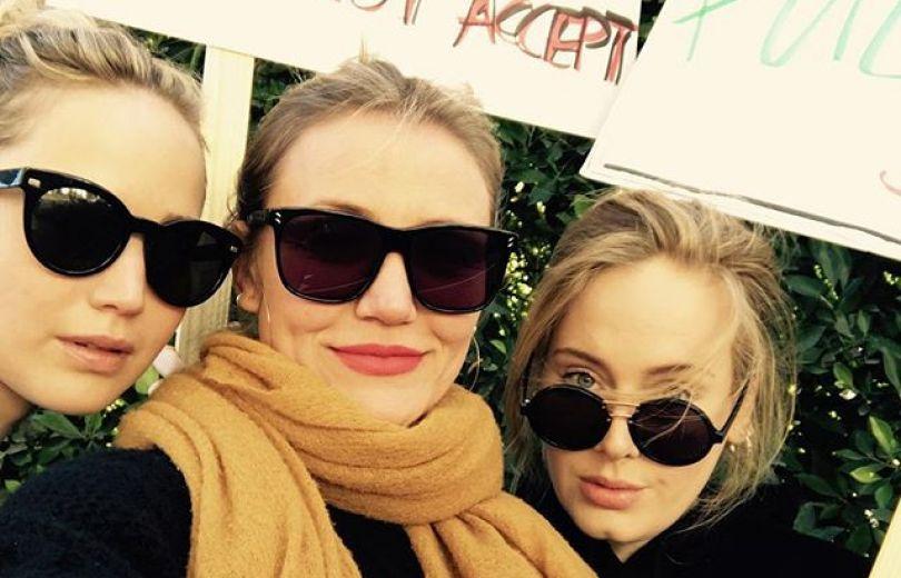 Натали Портман, Адель иДженнифер Лоуренс вышли на«Женский марш»