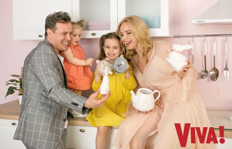 Лилия Ребрик и Андрей Дикий с дочками