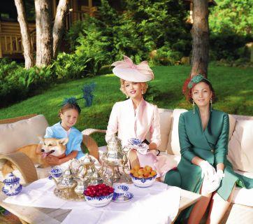 Оля Полякова и ее дочки в фотосессии для Viva!