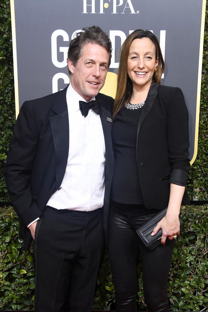 Хью Грант и его жена Анна Эберстейн