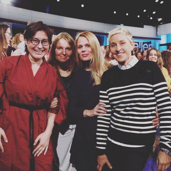 Ольга Фреймут приехала в Голливуд на «Шоу Эллен Дедженерес»