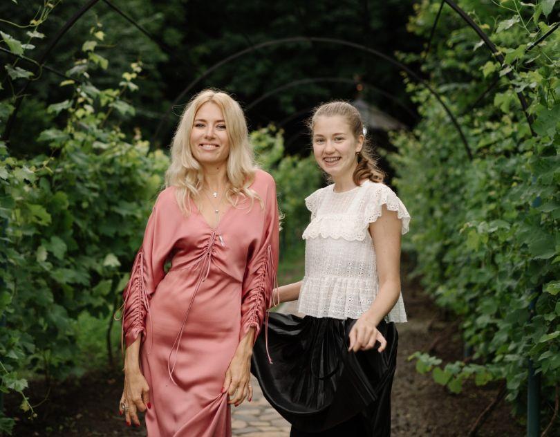 Ольга Горбачева и ее старшая дочь
