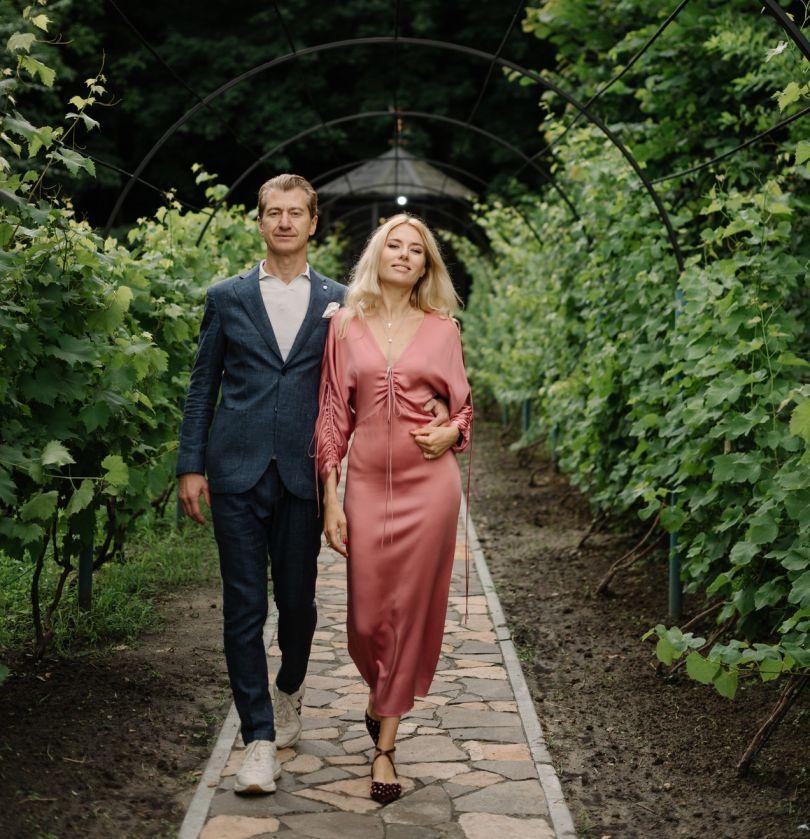 Ольга Горбачева и ее муж Юрий Никитин на Западной Украине