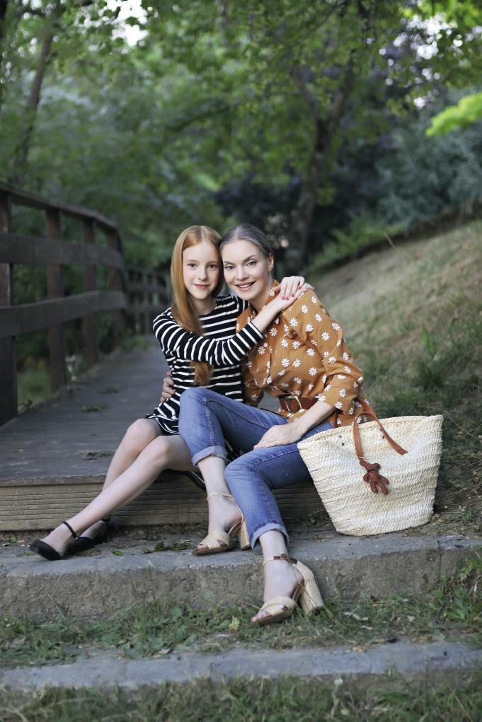 Наталья Окунская с дочерью