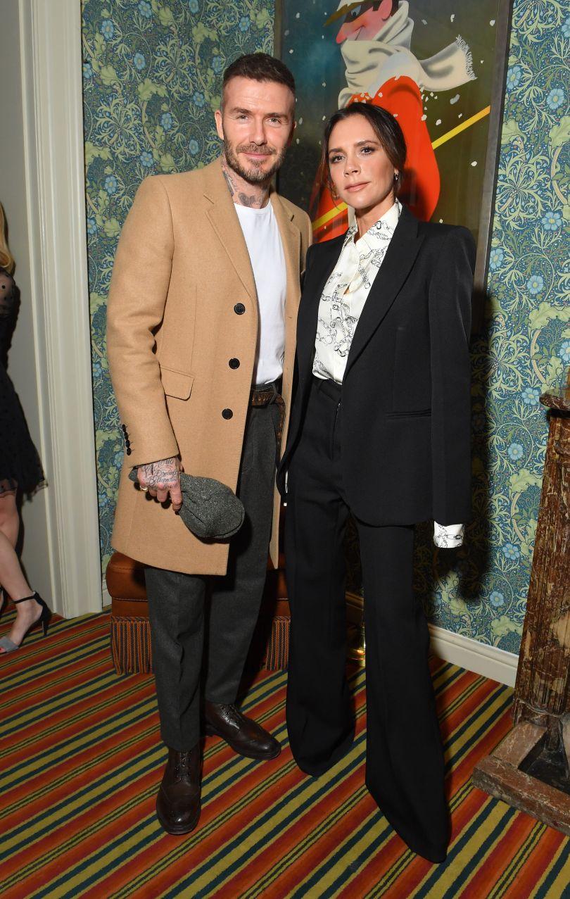 Виктория и Дэвид Бекхэмыв стильных нарядах