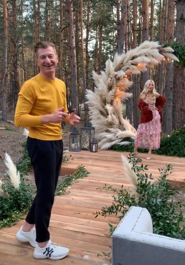 Юрий Никитин и Ольга Горбачева на свадьбе Потапа и Насти Каменских